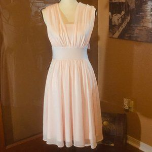 NWT WHBM Pink fit and flare convertible dress 4